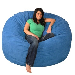 giant memory foam bean bag 6foot chair - Giant Bean Bag Chairs