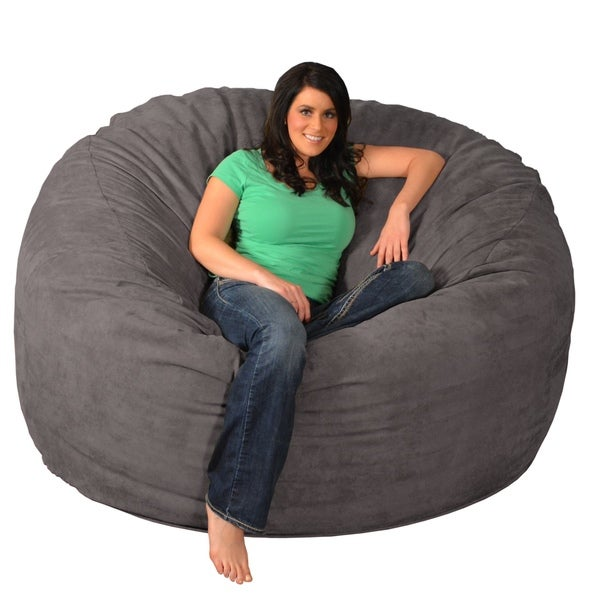 shop giant memory foam bean bag 6 foot chair on sale free shipping today overstock 9936912. Black Bedroom Furniture Sets. Home Design Ideas