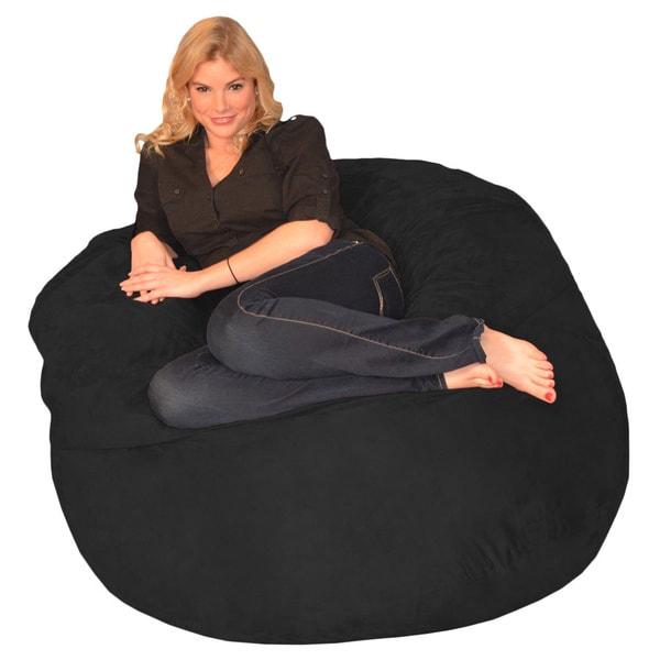 Memory Foam Bean Bag 4 Foot Chair   Free Shipping Today   Overstock.com    17092313