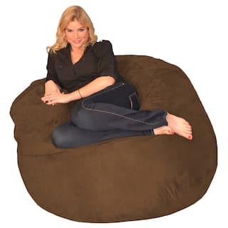 Clay Alder Home Green Bridge Memory Foam Bean Bag 4 Foot Chair