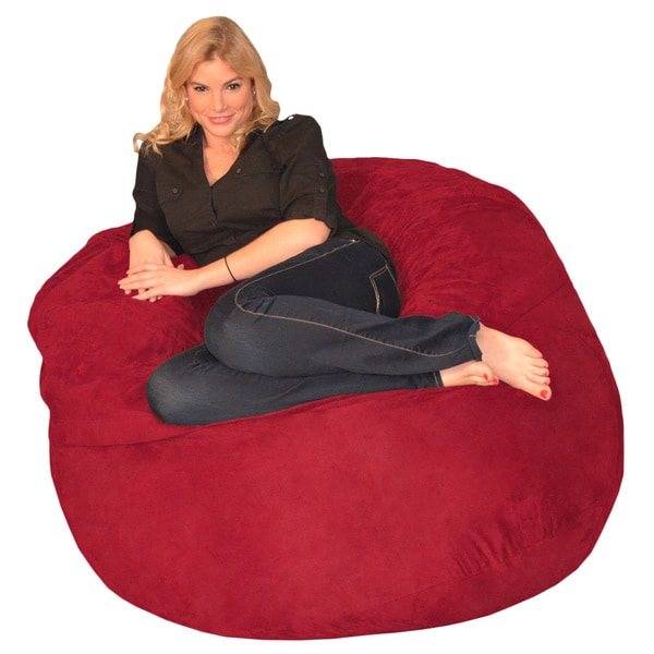 Awesome Memory Foam Bean Bag 4 Foot Chair