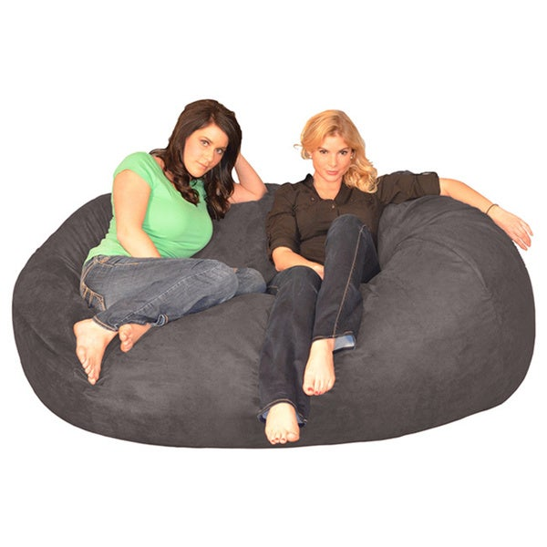 6 Foot Memory Foam Bean Bag Lounger Free Shipping Today