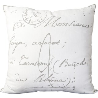 Decorative Erskine 22-inch Poly or Feather Down Filled Throw Pillow