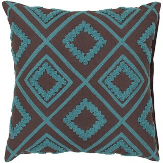Decorative Halen 22-inch Poly or Feather Down Filled Throw Pillow