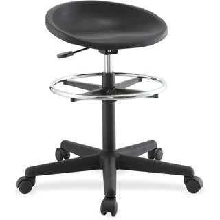 Lorell Chromed Footring Adjustable Stool