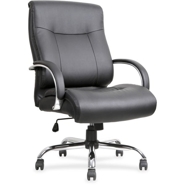 shop lorell leather deluxe big tall chair free shipping today