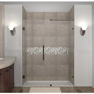 Aston Nautis 60-in x 72-in Completely Frameless Hinged Alcove Shower Door in Chrome