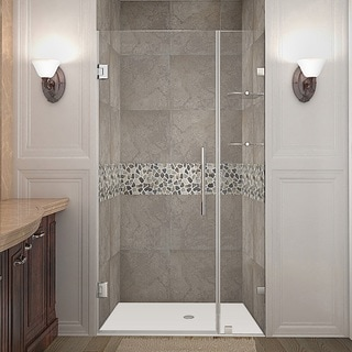 Aston Nautis Gs 43 In X 72 In Completely Frameless Hinged Alcove Shower Door