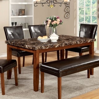 Link to Furniture of America Yols Contemporary Oak 60-inch Dining Table Similar Items in Dining Room & Bar Furniture