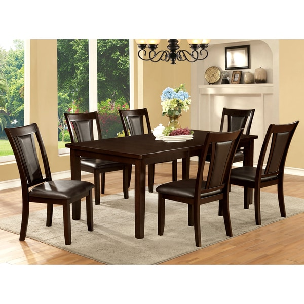 Awesome Furniture Of America Rolen 7 Piece Dark Cherry Dining Set