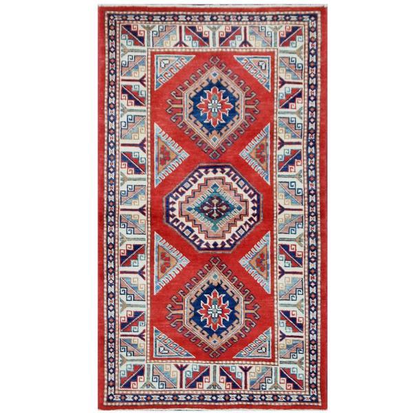 Herat Oriental Afghan Hand-knotted Tribal Super Kazak Wool Rug (2'4 x 5')
