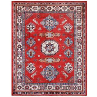 Herat Oriental Afghan Hand-knotted Tribal Super Kazak Wool Rug (7'11 x 10')