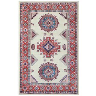 Herat Oriental Afghan Hand-knotted Tribal Super Kazak Wool Rug (5'10 x 9'1)