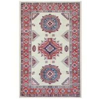 Herat Oriental Afghan Hand-knotted Tribal Super Kazak Wool Rug (5'10 x 9'1) - 5'10 x 9'1