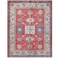 Handmade Herat Oriental Afghan Tribal Super Kazak Wool Rug (Afghanistan) - 5'1 x 6'5