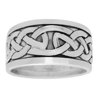 Sterling Silver Men's Celtic Knot Ring Band