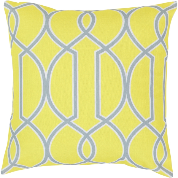 Barrett 22-inch Lattice Decorative Poly or Feather Down Filled Throw Pillow