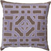 Decorative Felder 22-inch Poly or Down Filled Throw Pillow