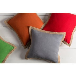 Decorative Henley 22-inch Poly or Down Filled Throw Pillow