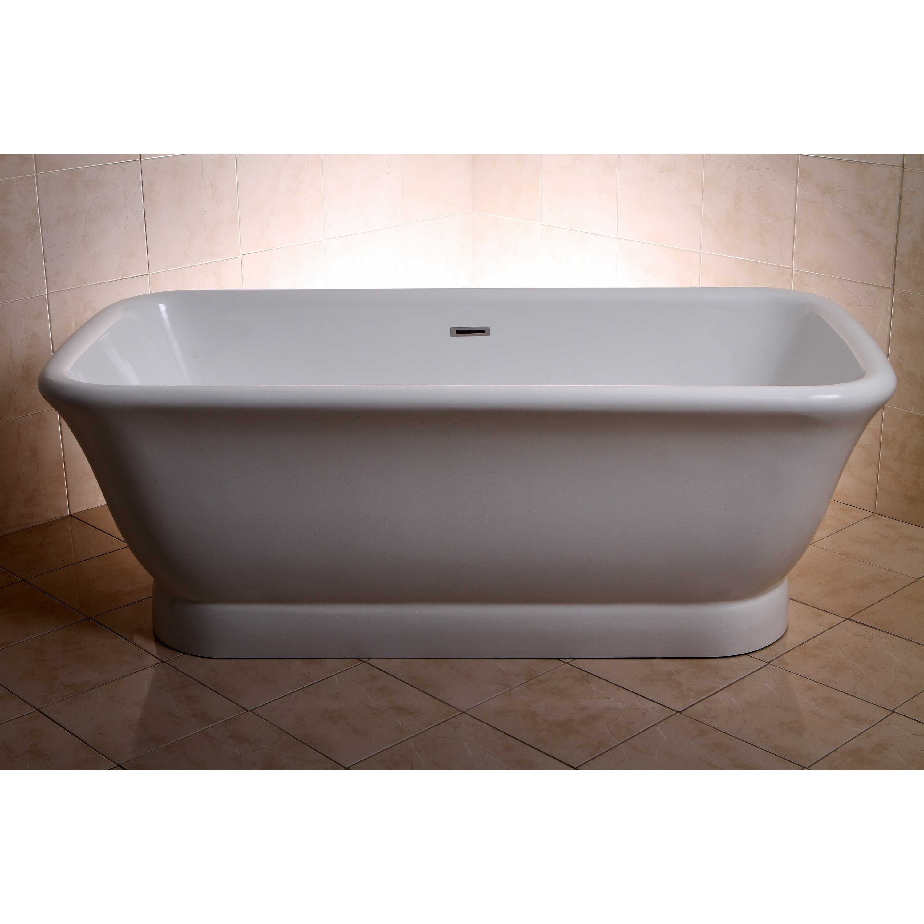 Picture of: Shop Black Friday Deals On Large Contemporary Double Ended Acrylic 71 Inch Pedestal Bathtub On Sale Overstock 9937550