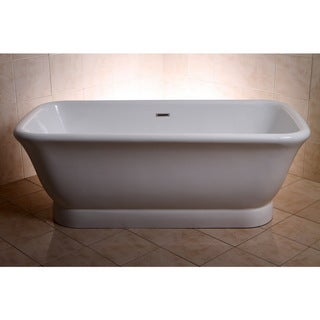 Link to Large Contemporary Double Ended Acrylic 71-inch Pedestal Bathtub Similar Items in Bathtubs