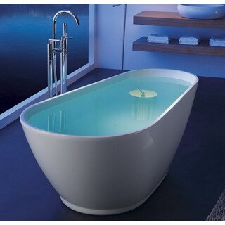 Modern Slipper 69-inch Freestanding Acrylic Bathtub