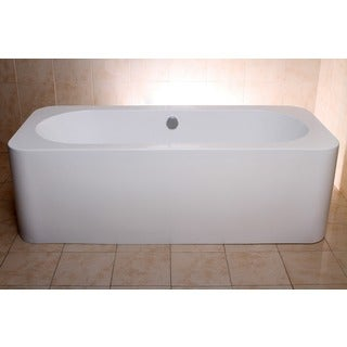 Modern Rectangular 71-inch Freestanding Acrylic Bathtub