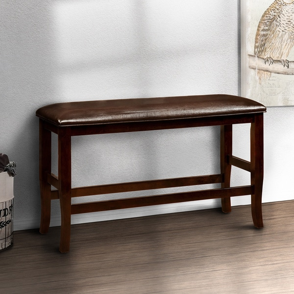 Counter Stools Overstock: Shop Furniture Of America Clemmine Espresso Wood Counter