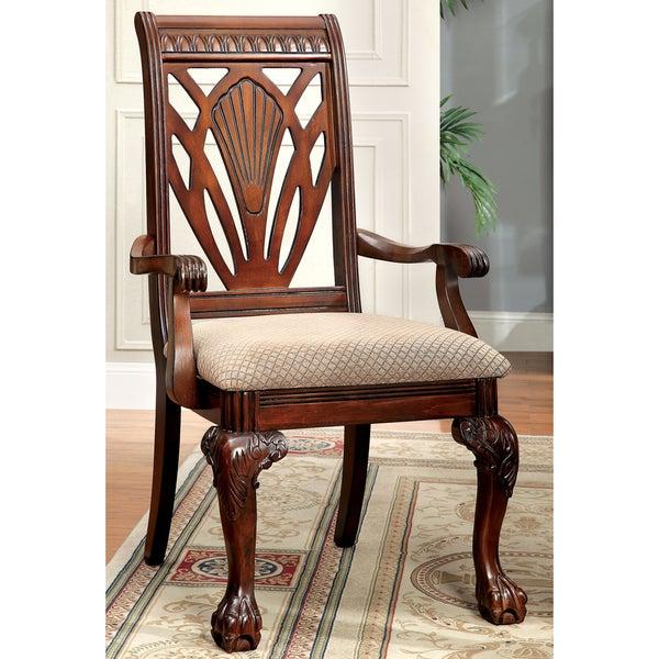 Furniture Of America Mallory Formal Cherry Red: Furniture Of America Ranfort Formal Cherry Arm Chair (Set
