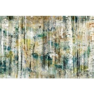 Oversized 'Birch Treescape' Canvas Artwork Print