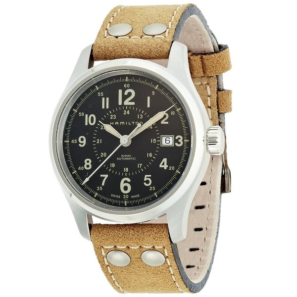 Hamilton Men's H70595593 Khaki Field Automatic Black Watch