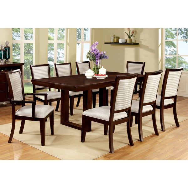 Furniture of America Hine Contemporary Espresso 78-inch Dining Table