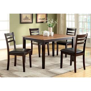 Furniture of America Imogen 5-Piece Modern Duotone Dining Set