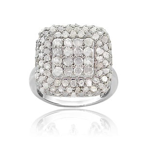 DB Designs Sterling Silver 7/8ct TDW Diamond Square Ring