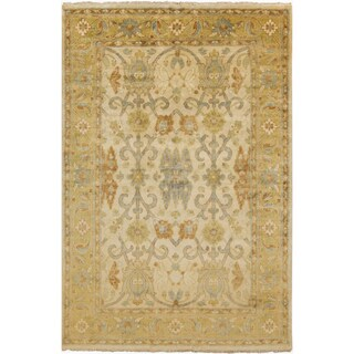 Hand-Knotted Renata Border New Zealand Wool Rug (3'6 x 5'6)