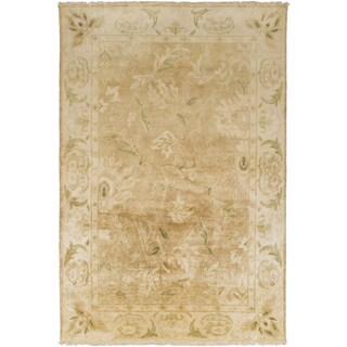 Hand-Knotted Lawrence Border New Zealand Wool Rug (3'6 x 5'6)