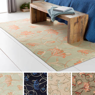 Hand-Tufted Jace Floral New Zealand Wool Rug (5' x 8')