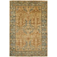 Hand-Knotted Ramona Border New Zealand Wool Area Rug (5'6 x 8'6) - 5'6 x 8'6'