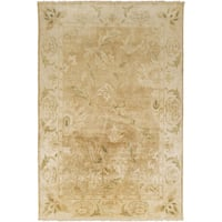 Hand-Knotted Lawrence Border New Zealand Wool Area Rug - 5'6 x 8'6'