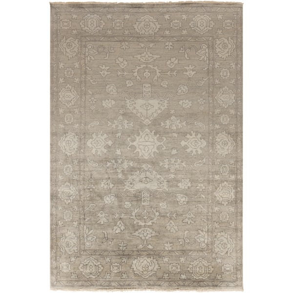 Hand-Knotted Kade Border New Zealand Wool Area Rug - 5'6 x 8'6