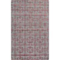 Hand-Tufted Gracie Geometric Wool Area Rug - 5' x 8'
