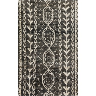 Hand-Knotted Felicia Tribal Jute Rug (5' x 8')