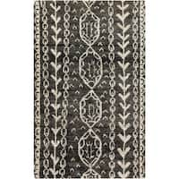 Hand-Knotted Felicia Tribal Jute Area Rug - 5' x 8'
