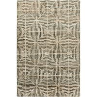 The Curated Nomad Clarendon Hand-knotted Geometric Jute Area Rug (5' x 8')