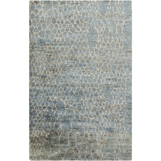 Hand-Knotted Frances Abstract Jute Rug (5' x 8')