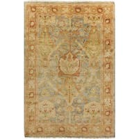 Hand-Knotted Monica Border New Zealand Wool Area Rug - 8' x 11'