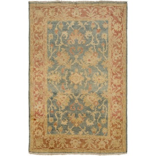 Hand-Knotted Sallie Border New Zealand Wool Rug (8' x 11')