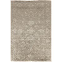 Gracewood Hollow Whitehead Hand-Knotted Border New Zealand Wool Area Rug - 8' x 11'