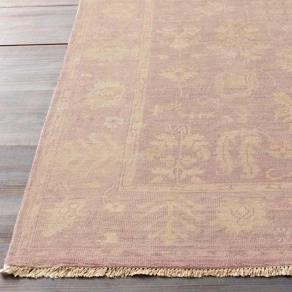 Hand-Knotted Erma Border New Zealand Wool Area Rug - 8' x 11'