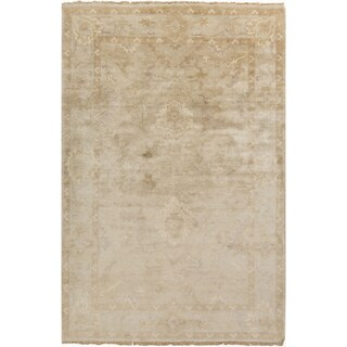 Hand-Knotted Seamus Border New Zealand Wool Rug (9' x 13')